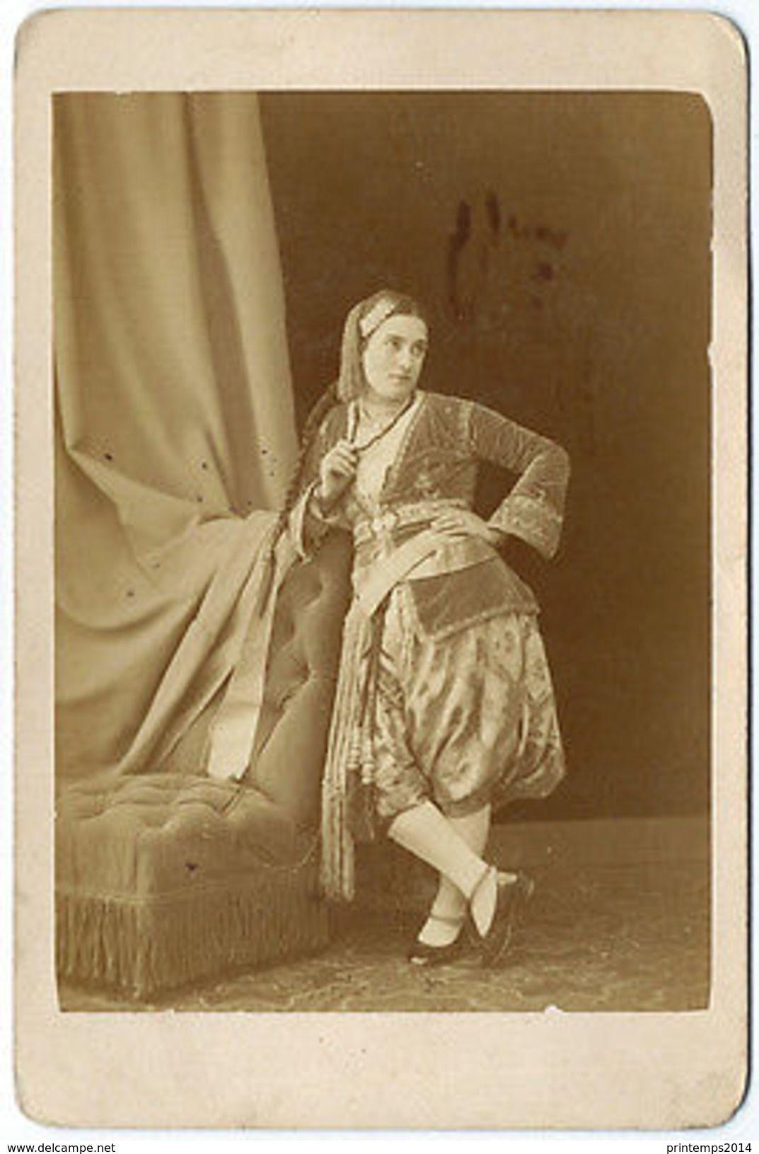 Jolie Femme Arabe Ou Juive , Longue Tresse , C. Portier
