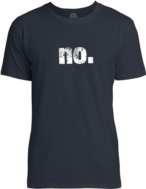 No (White) Mens Fine Jersey T-Shirt