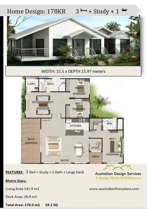3 Bed Study Pole Home Plans For Sale 178 M2 19 2 Sq 1920 Sq Feet Beach House Plans House Plans Modern House Plans