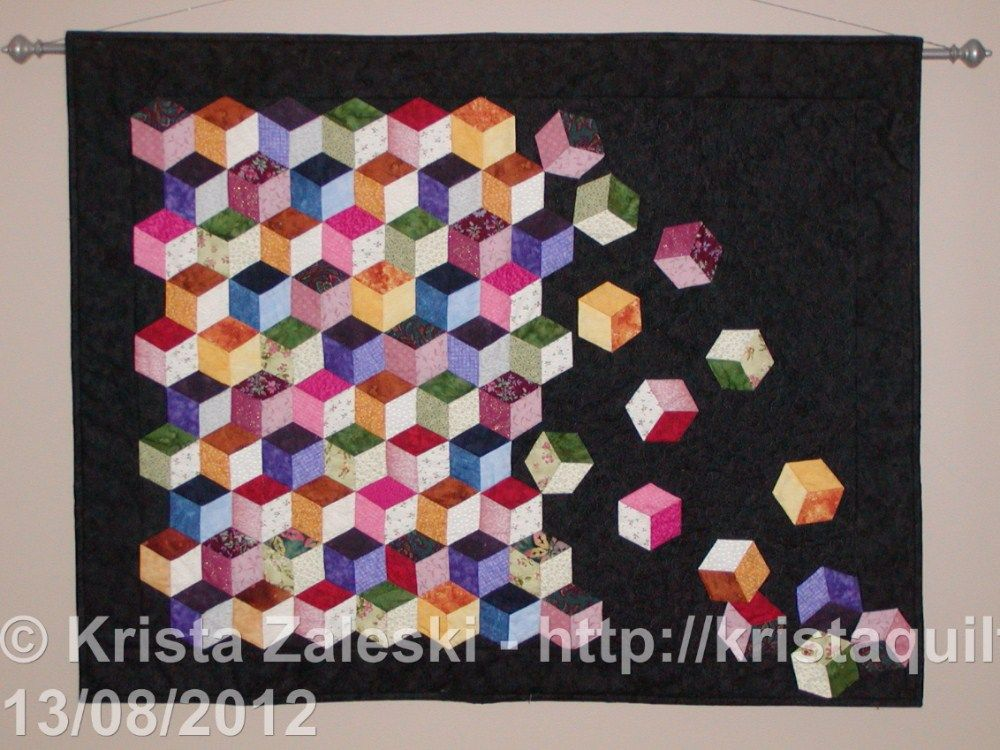 Tumbling Blocks Baby Quilt Pattern.Falling Blocks Tumbling Blocks Quilt Quilt Patterns