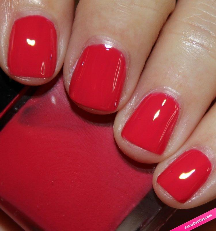 U as simples decoradas con esmalte rojo pasi n rojo - Unas decoradas con esmalte ...