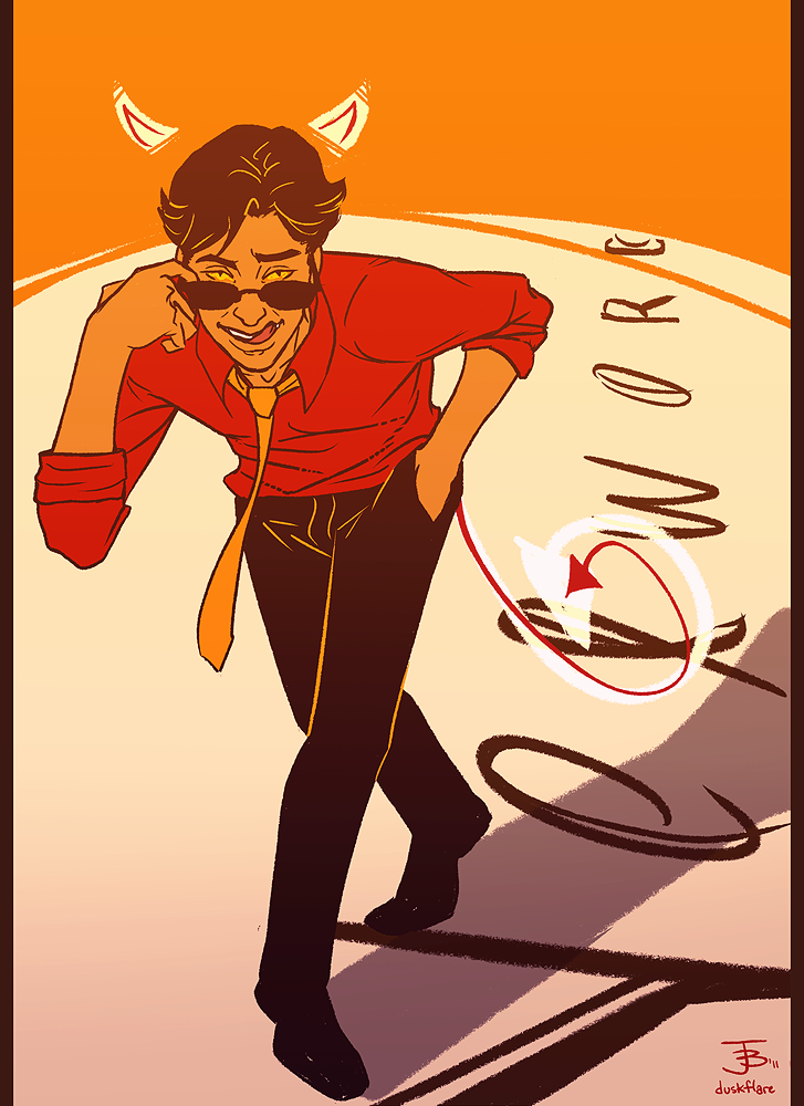 """Anthony J  Crowley by duskflare """" 