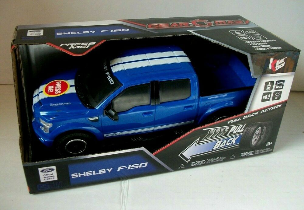 Gear Maz 1:26 Scale Model Ford Shelby F-150 Pull Back Action With Light & Sound