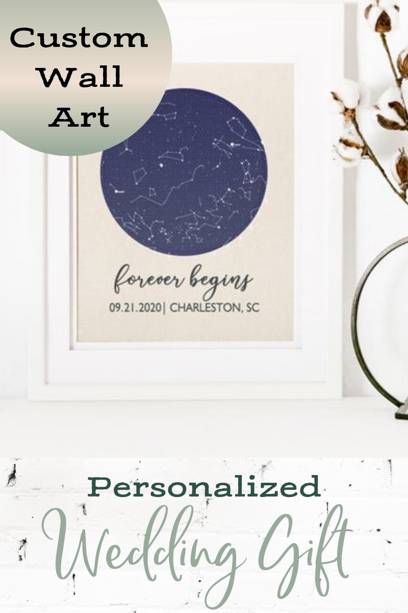 Custom Star Map on Cotton Constellation Print Night Sky