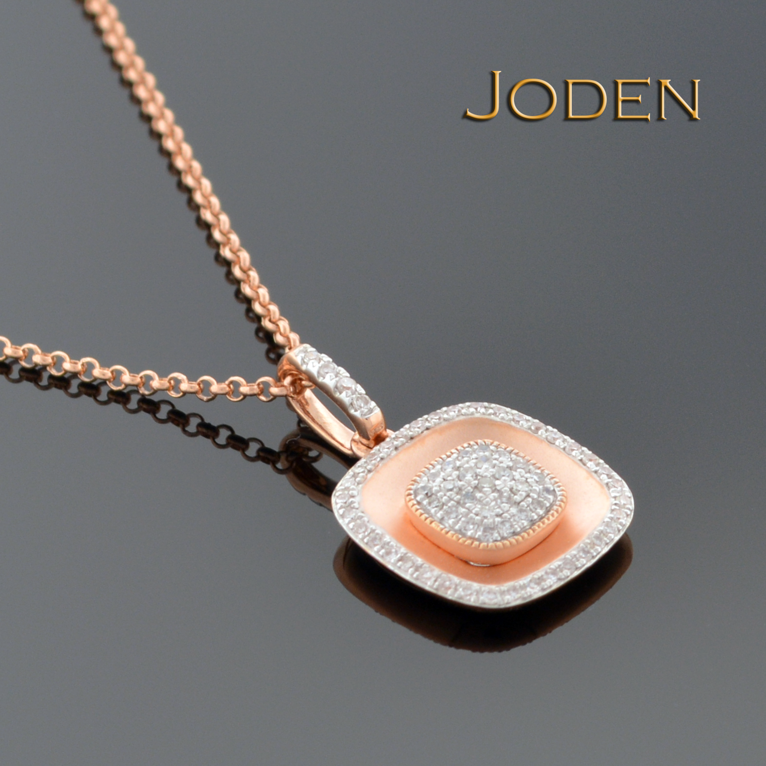 Make her smile with this k rose gold necklace and pendant offering
