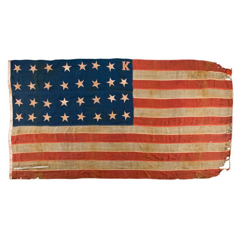 31 Star Flag With A K For Bleeding Kansas 1stdibs Com Civil War Flags American Civil War Civil War