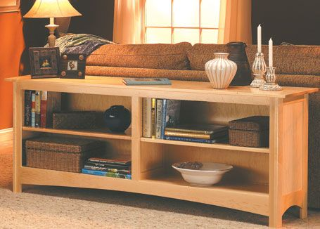 Sofa Table Bookcase | Woodsmith Plans