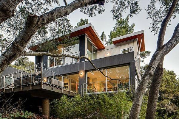 Cooles Haus Kalifornien Architektur Wald Idee