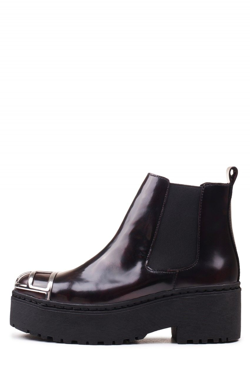 Jeffrey Campbell Shoes UNIVER-MTC New Arrivals in Wine Rub Off