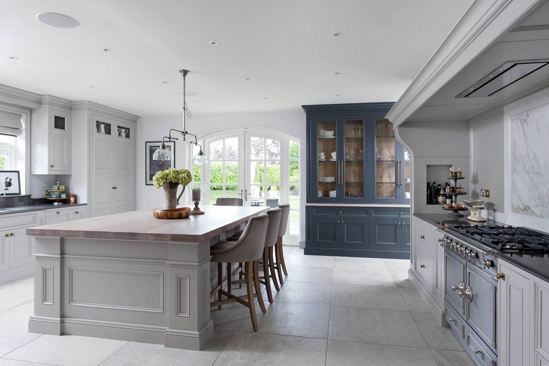 This Bespoke kitchen has a French influenced theme
