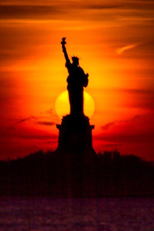Liberty Beautiful Sunset Sunset Photography