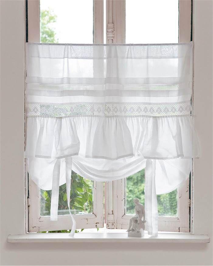 Halbgardine Zum Hochbinden Von Vossberg De Selbstgemachte Vorhange Gardinen Fensterdekoration
