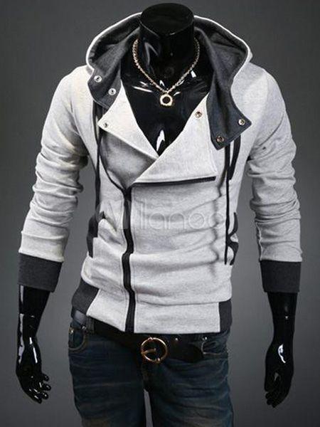 0a8eb0e07e7ac Men Blue Hoodie Plus Size Sport Jacket Cotton Hoodie Long Sleeve ...