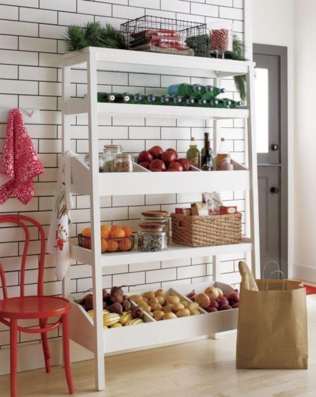 Free Standing Wood Kitchen Shelves Kitchen Storage Units