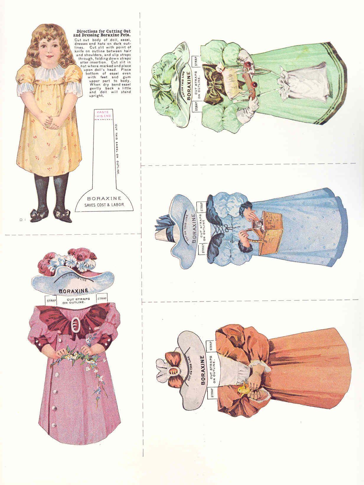 1950 toys images  advertising paper dolls  Bing Images  Arielle Gabriel Antique