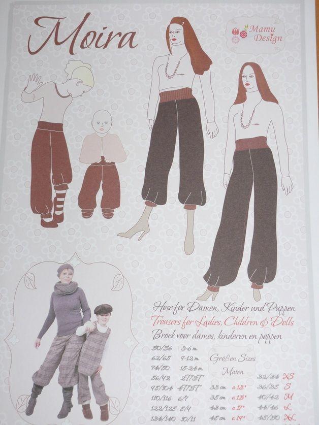 Schnittmuster Pumphose Babys, Kinder & Damen | Pluderhose nähen ...