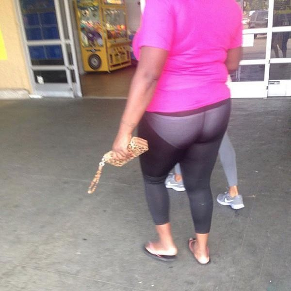 b8511609156e23 What Not To Wear: White Underwear and See Through Leggings at Walmart -  Funny Pictures at Walmart