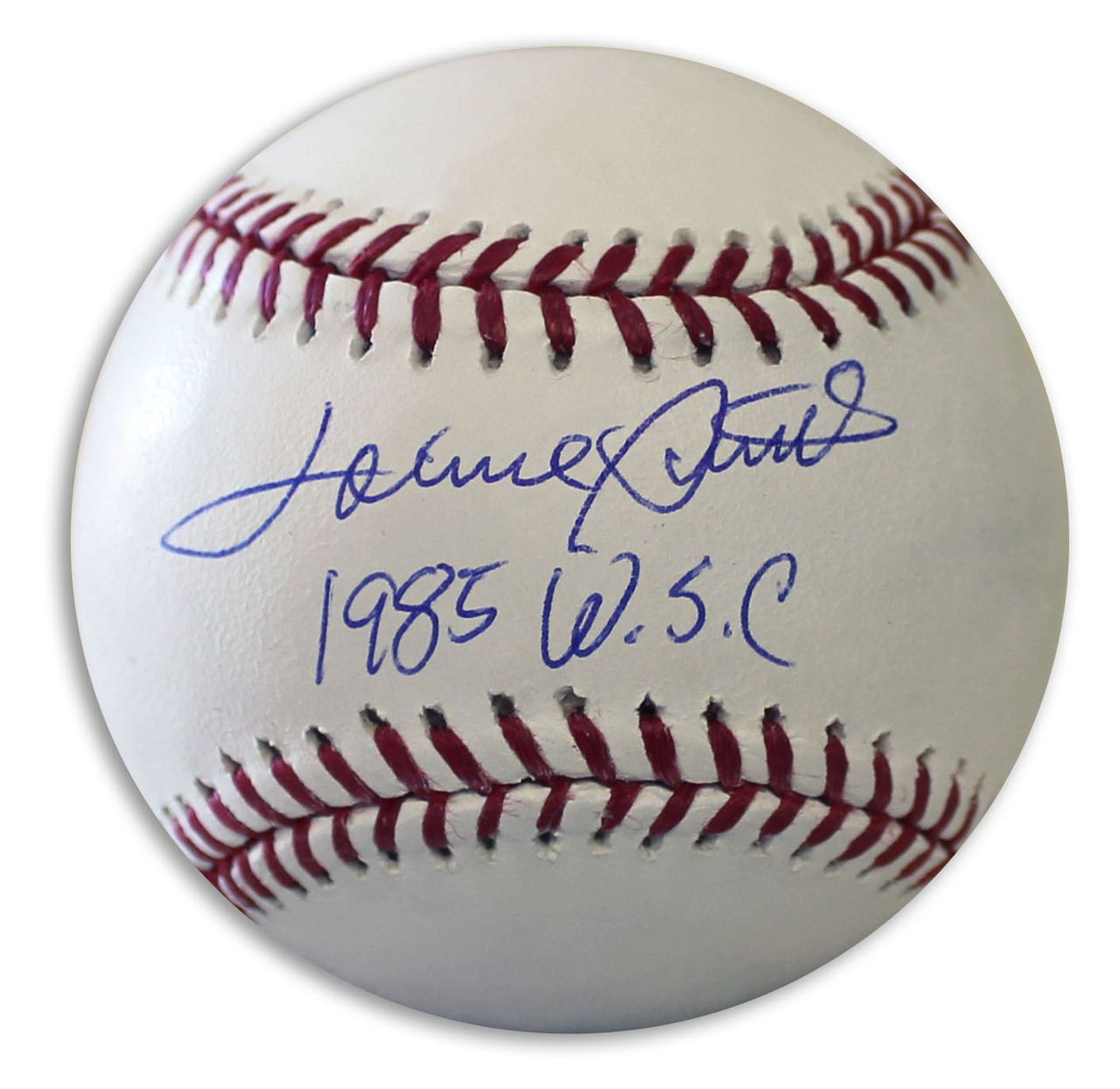 Lonnie Smith Autographed Official Mlb Baseball Inscribed 1985 Wsc Mlb Baseball Mlb Autograph