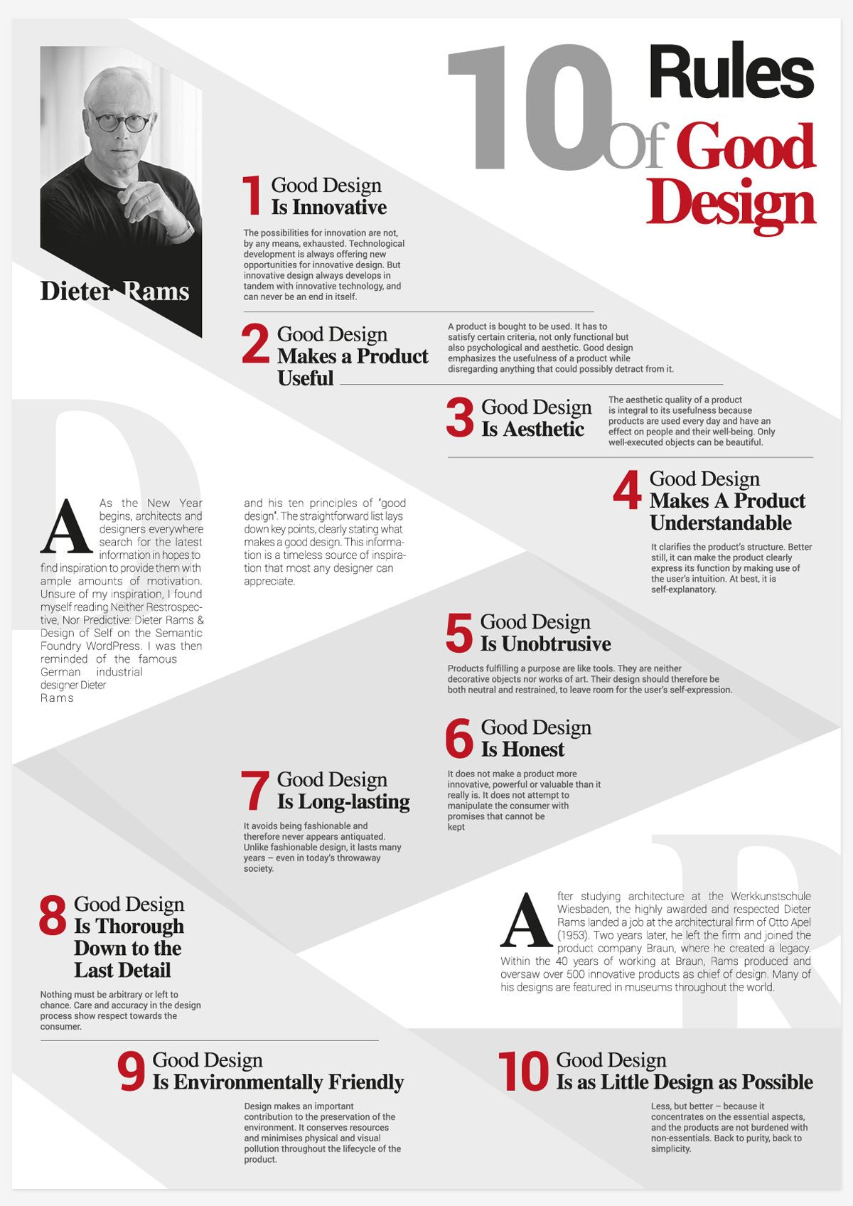 Ask A Designer Dieter Rams 10 Principles Of Good Design Youtube