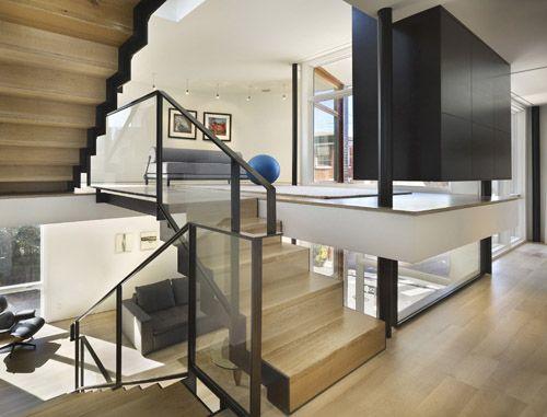 Split Level House In Pennsylvania By Qb Split Level Home Designs Split Level House Home Stairs Design