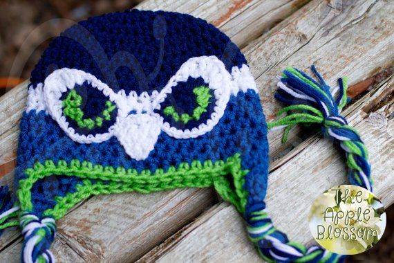 8857fed6971 Adult Seattle Seahawks Inspired Hat aka The Awesome Hawk