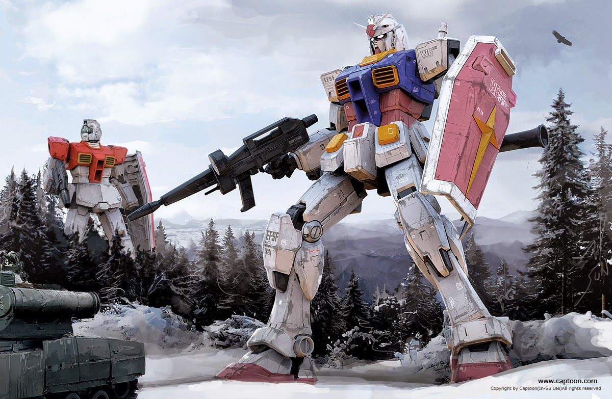 Rx 78 2 Gundam And Rgm 79 Gm Wallpaper 画像あり ガンダム