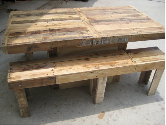 Pallet Table Bench Pallet Dining Table Pallet Table Wood Pallets