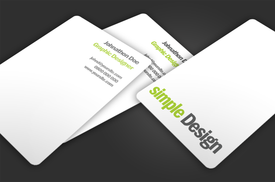 simple minimal business card designpng 900595 pixels - Graphic Design Business Ideas
