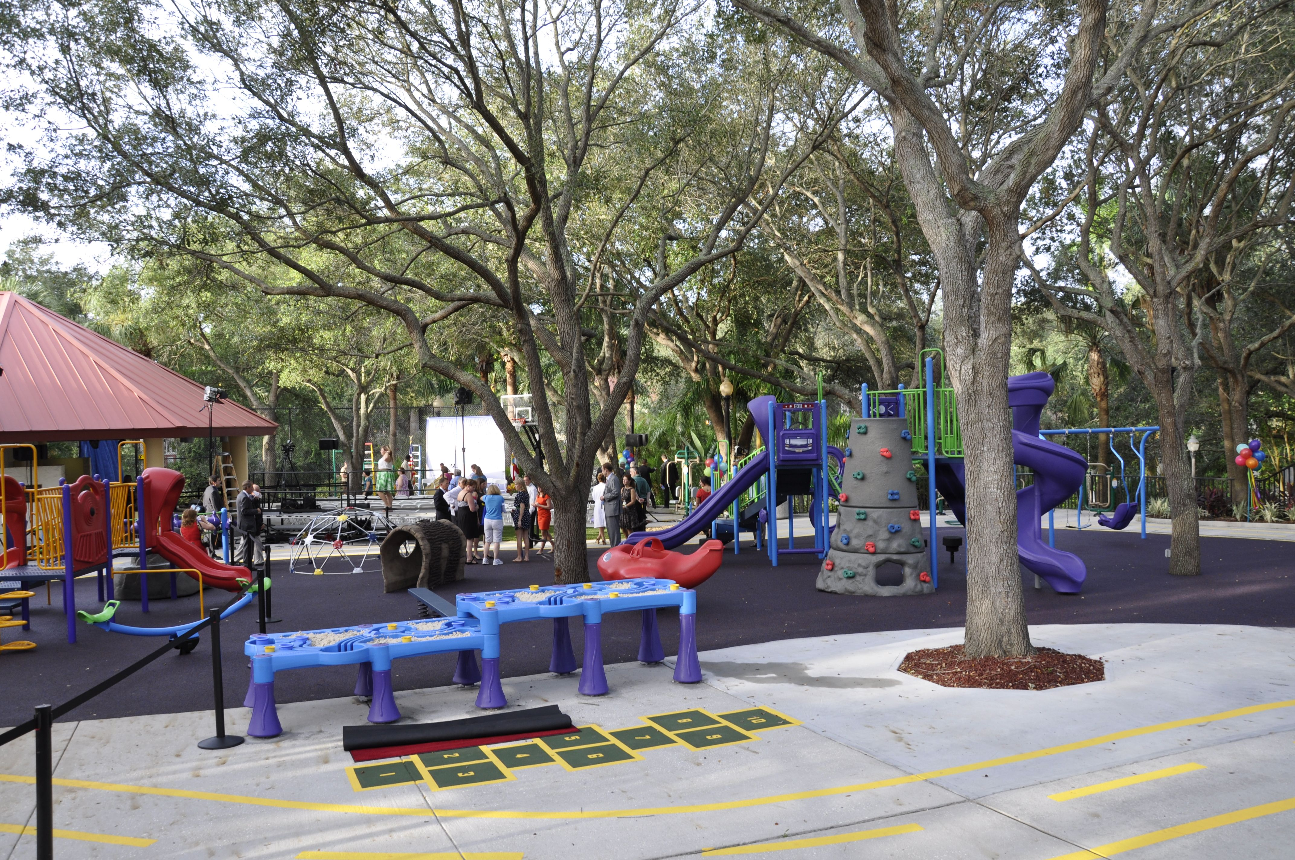 the completed playground at all children u2019s hospital in st