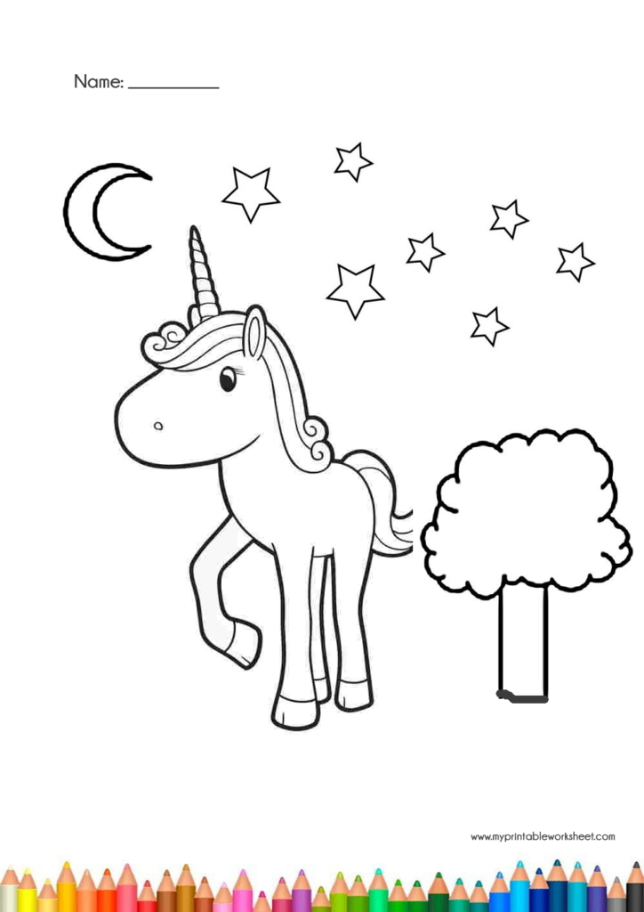 Easy Cute Unicorn Coloring Pages For Kids And Girls Unicorn Coloring Pages Coloring Pages Coloring Pages For Kids