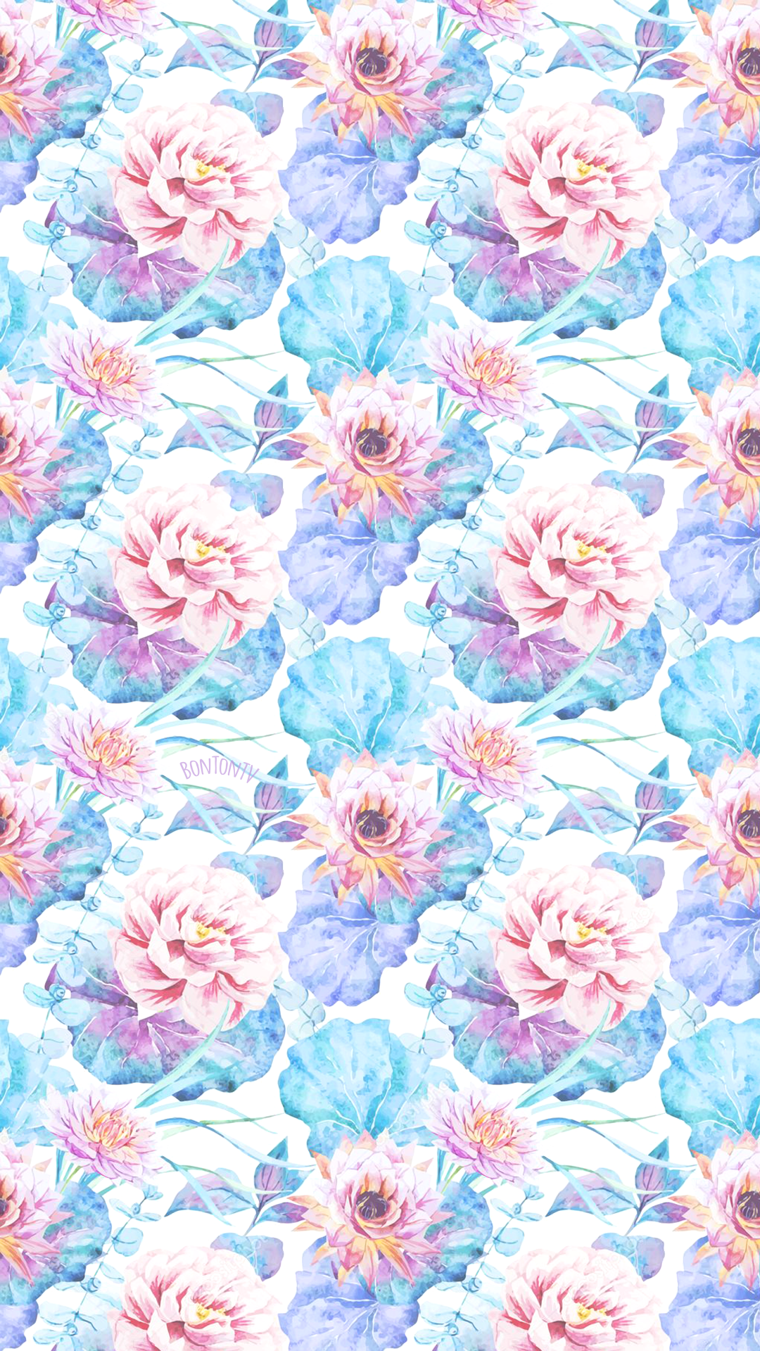 Phone Wallpapers Hd Watercolor Flowers Pattern By Bonton Tv Free Backgrounds 1080x Flower Phone Wallpaper Artsy Wallpaper Iphone Love Wallpaper Backgrounds