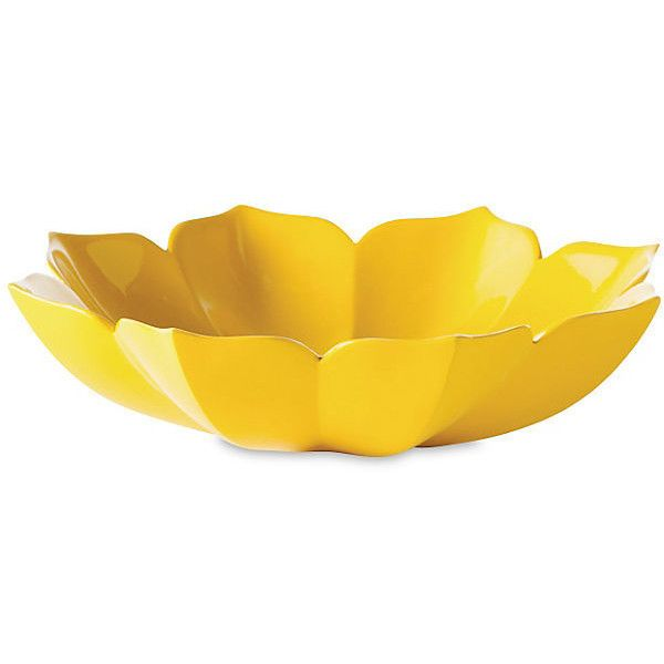 10 Lotus Bowl Yellow Decorative Bowls Centerpieces Found On Polyvore Yellow Home Accessoriesyellow Home Decordecorative