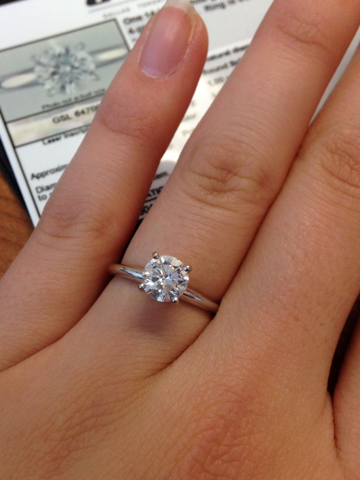 1 Carat Round Diamond #TiffanyStyle Engagement Ring from ...