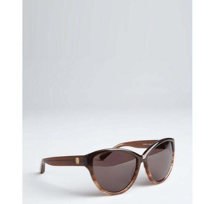 House of Harlow coffee acrylic 'Chantal' cat eye sunglasses #ootd #scentstyle #fashion
