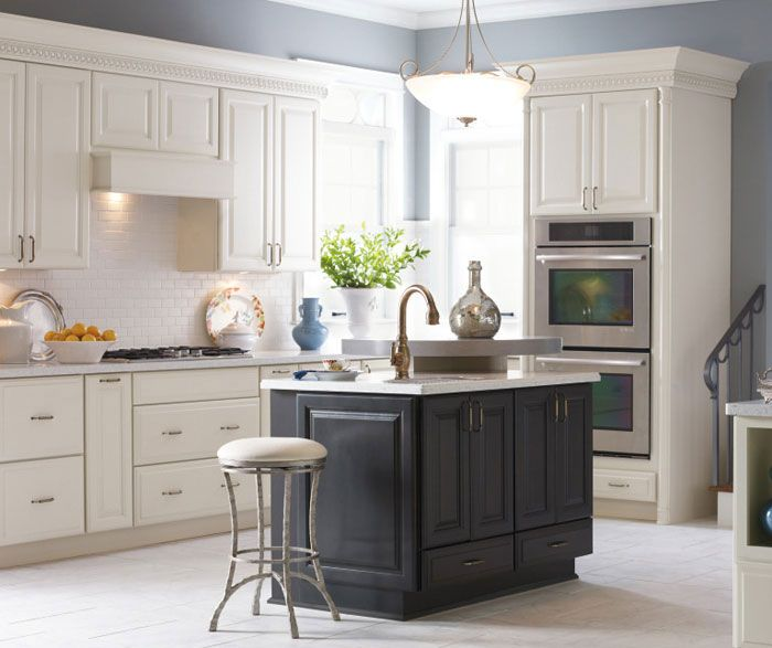 White Kitchen Dark Island understated elegance with a kiss of modernity. the simple lines of