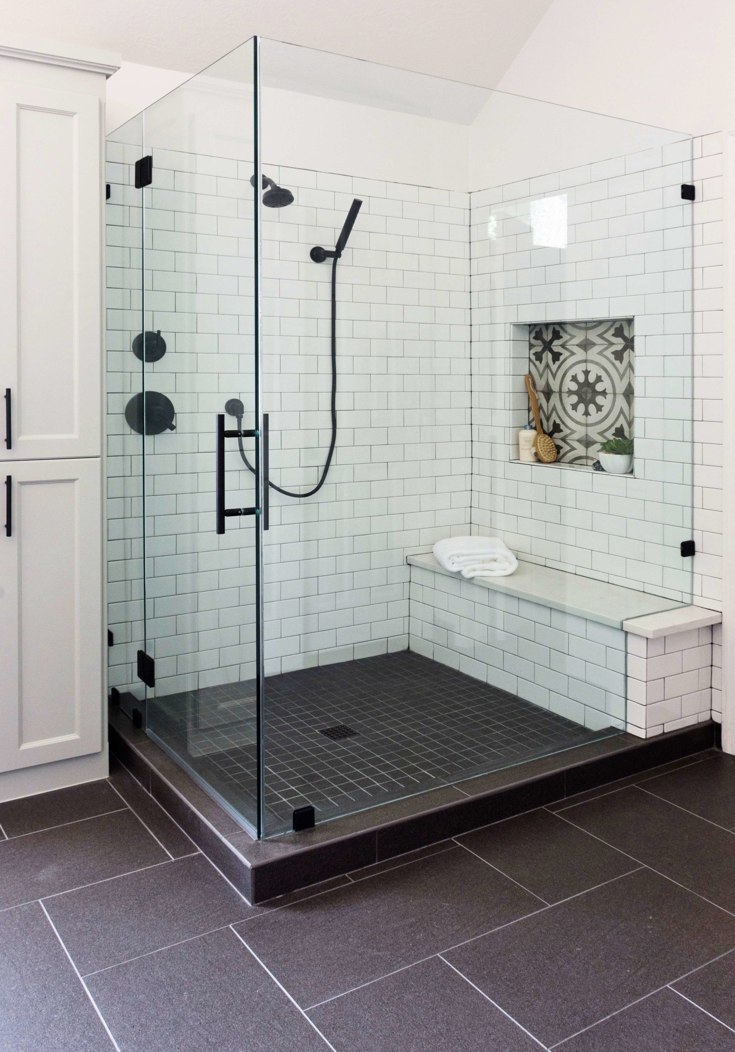 Before And After A Dated Builder Bathroom Becomes An Eye Catching Modern Retreat Designed Bathroom Remodel Designs Bathroom Remodel Master Small Bathroom Remodel