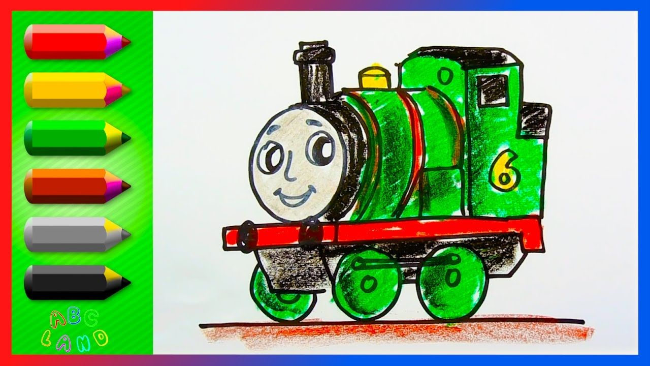 How To Draw Percy The Green Engine Thomas And Friends Drawing And Co Drawings Of Friends Thomas And Friends Preschool Colors
