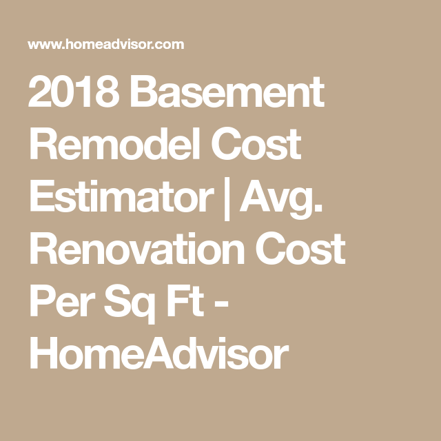 2018 Basement Remodel Cost Estimator | Avg. Renovation ...