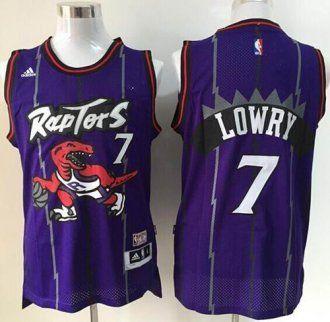 promo code 8098b f1695 Toronto Raptors #7 Kyle Lowry Purple Hardwood Classics ...