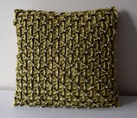 Green Decorative Pillow Smocked Pillow Canadian Smocking Smocked Delectable Decorative Throw Pillows Canada
