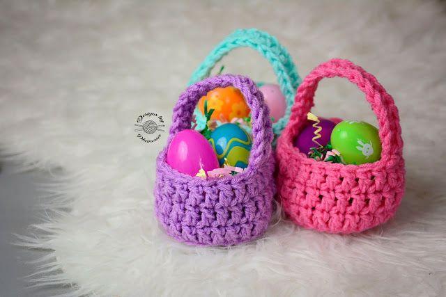 Handmade by Phanessa: Crochet Mini Basket - free pattern and video ...
