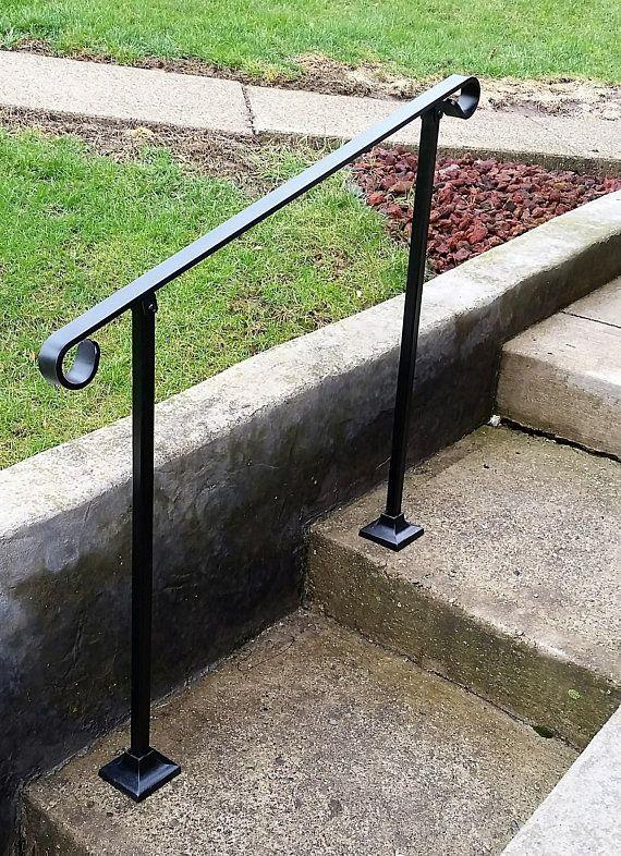Best 4 Four Foot Stair Railing Handrail Standard Flatbar Top 640 x 480