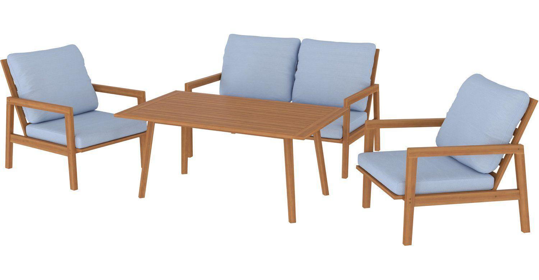 Lounge Set Mit Esstisch Camano 4 Teilig Fsc Teakoptik Kaufen Bei Obi Lounge Mobel Lounge Teak
