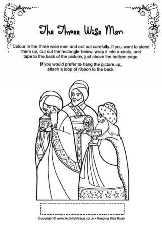 Christmas Characters - Wise Men coloring page | Christmas projects ...
