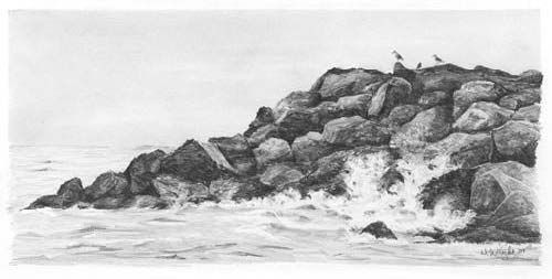 how to draw a seascape composition | ... enjoyed this ...