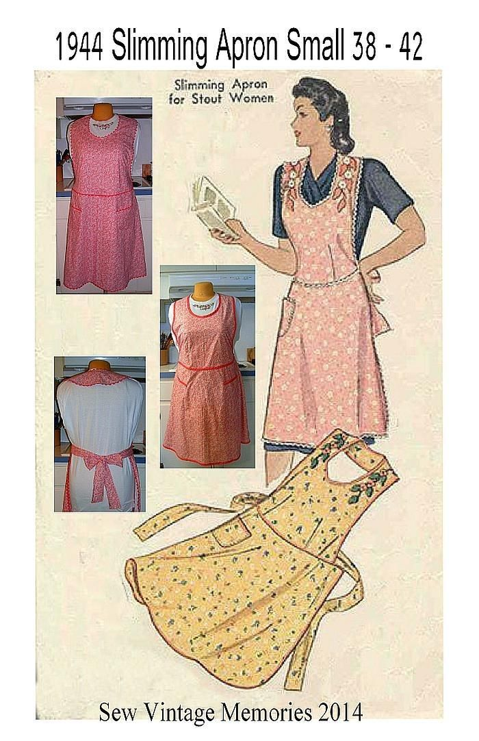 New Pellon Pattern 1944 Slimming Apron for Stout Women Small or ...