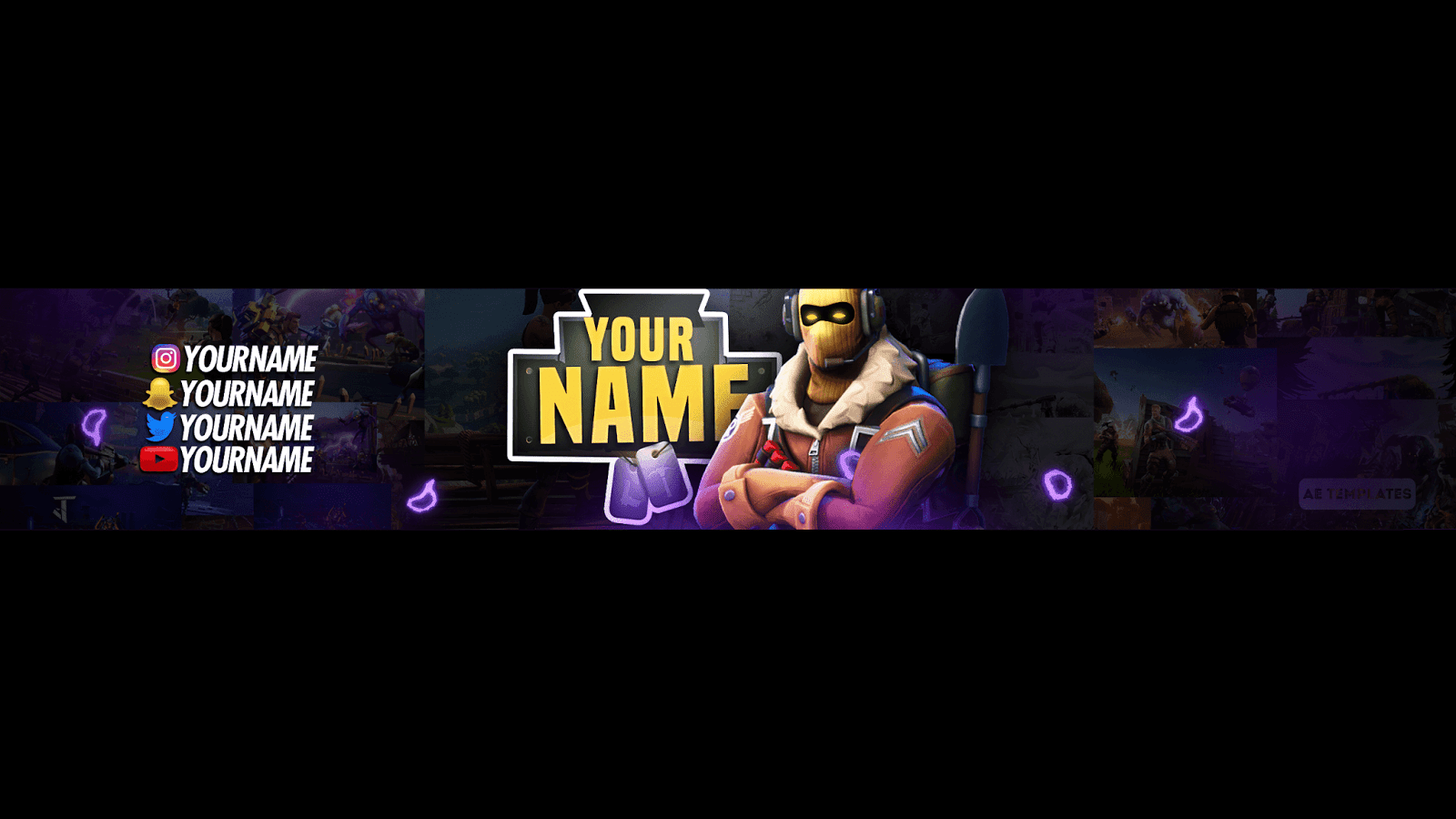Top 5 Fortnite Banner Template Ae Templates Youtube