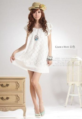 2e2651f968 Suku 31049 Vestido Corto De Encaje Moda Japon  549