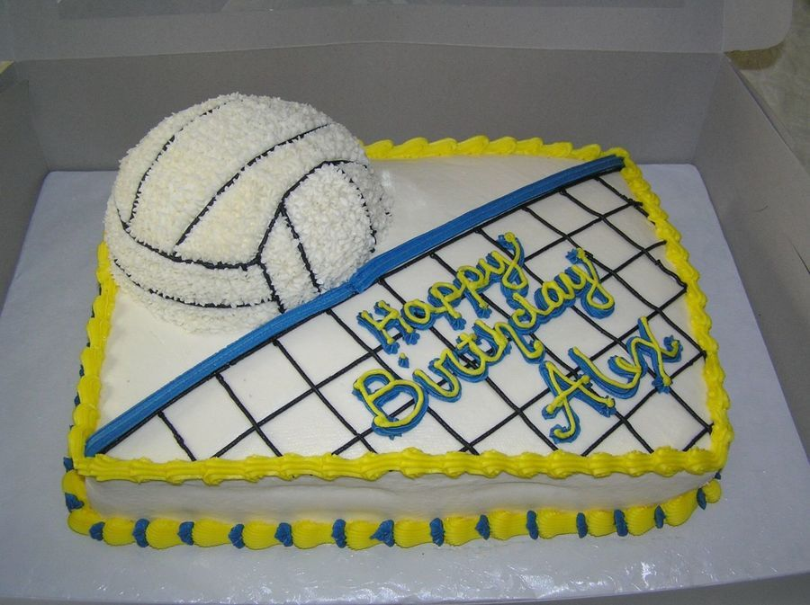 Terrific Volleyball Cake Volleyball Cakes Volleyball Birthday Cakes Personalised Birthday Cards Arneslily Jamesorg