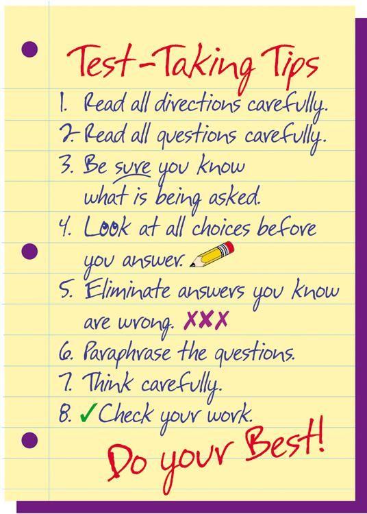 Test-Taking Tips ARGUS® Poster Positive character traits - positive character traits